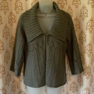 a.n.a. A new approach gray cardigan sweater sz M